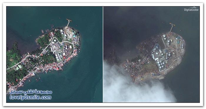 قبل وبعد إعصار هايان