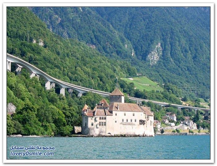 قلعة شيلون في سويسرا
