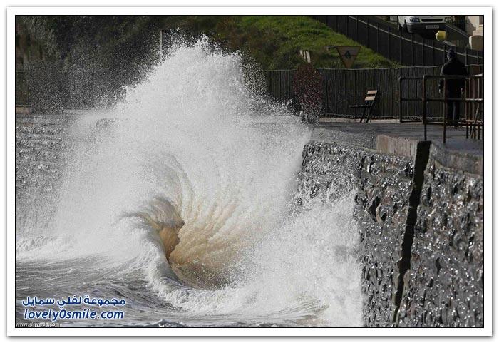 عاصفة تضرب جنوب المملكة المتحدة
