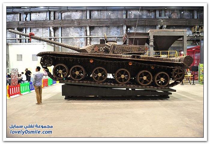 دبابة بنيت بـ 48356 قذائف فارغة في الصين